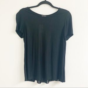 NWT Express Knit Top with Chiffon Accordian Back